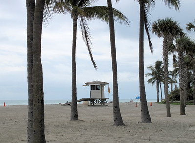 One of the Lifeguard Stations at Hollywood Beach, Florida.