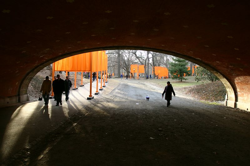 the gates in central park, new york city, by christo and jeanne-claude