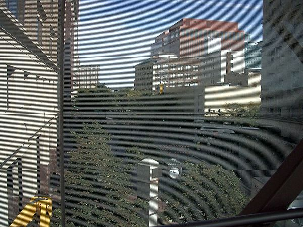 <font size=3>The view North on 16th street from inside the walkway.</font>
