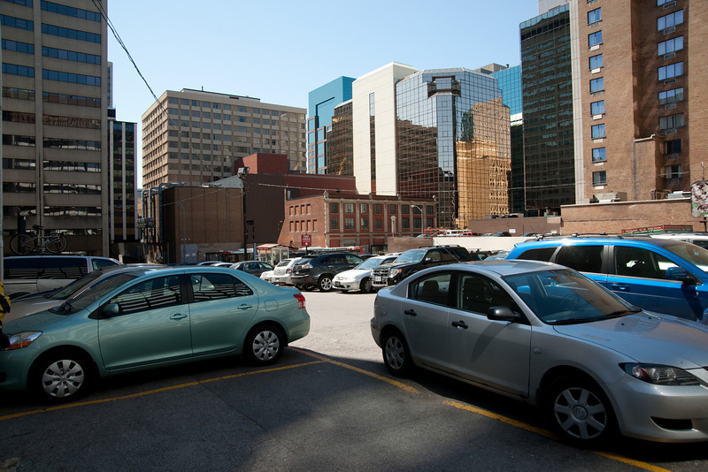 Downtown Ottawa: parking lots and ugly buildings.