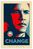 "Shepard Fairey's Barack Obama ""Change"" Poster<br />  <a href=""http://obeygiant.com/"">http://obeygiant.com/</a><br /> This second series was taken at the Manchester rally in September, after the Democratic nomination.  The rally geared up supporters for the homestretch to the election.   Meghan and I zipcar'd up to Manchester together to hear the speech."