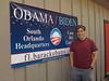 Canvassing for Barack Obama. Orlando, FL, November 2008