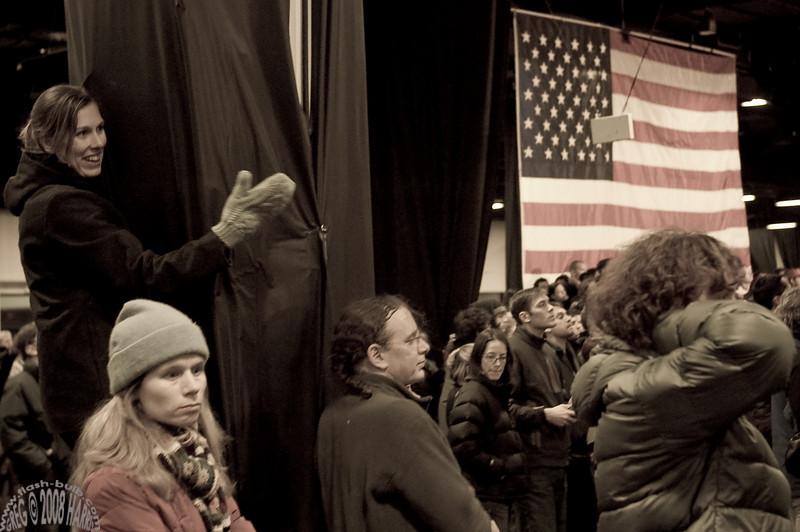 Barack Obama Rally. Seaport, Boston, MA, February 2008
