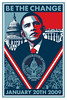"Shepard Fairey's Barack Obama ""Inauguration"" Poster<br />  <a href=""http://obeygiant.com/"">http://obeygiant.com/</a>"