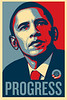 "Shepard Fairey's Barack Obama ""Progress"" Poster<br />  <a href=""http://obeygiant.com/"">http://obeygiant.com/</a><br /> This first series was taken at the Boston rally on the night prior to the Massachusetts Primary.  The night was cold and the line was quite long, even crossing over Fort Point Channel.  Despite that I was able to get in and hear Barack speak.  I listened from the edges of the hall and took pictures of other Obama supporters listening to his inspiring speech."