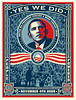 "Shepard Fairey's Barack Obama ""Yes We Did"" Poster<br />  <a href=""http://obeygiant.com/"">http://obeygiant.com/</a>"