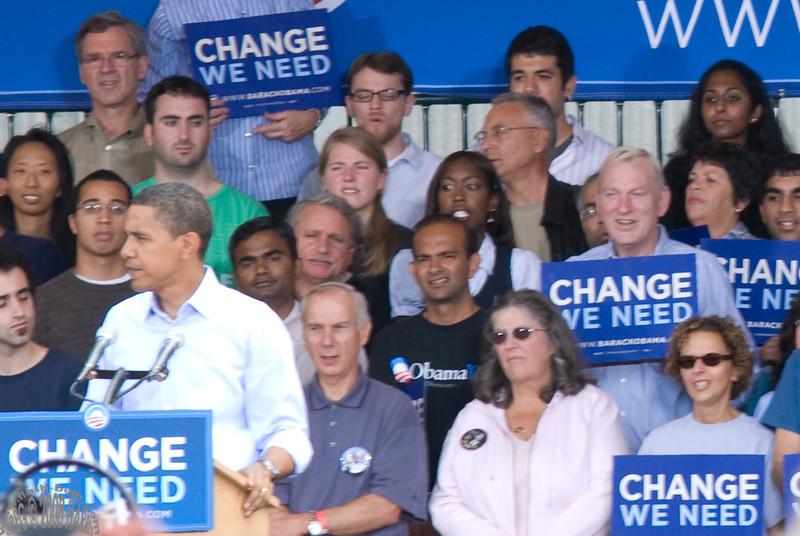 Barack Obama Rally. Manchester, NH, September 2008