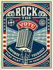 "Shepard Fairey's ""Rock The Vote"" Poster<br />  <a href=""http://obeygiant.com/"">http://obeygiant.com/</a><br /> This last series is iphone shots of the canvassing we did in Orlando out the final four days of the campaign, including Election Day.  They were unbelievably organized and these shots show some of the materials and locations of the canvass.  It was a privilege to play a small, but important part in the campaign."