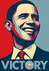 "Shepard Fairey's Barack Obama ""Victory"" Poster<br />  <a href=""http://obeygiant.com/"">http://obeygiant.com/</a>"