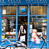 Shop front, La belle Hortense, bar and library, Paris, International City.