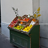 Fruit stand in street. Montmatre, Paris, International City.