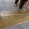 Brass commemoration Plaque, Arc de Triomphe, Paris, France.