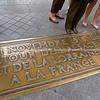 Brass commemoration Plaque, Arc de Triomphe, Paris, France.