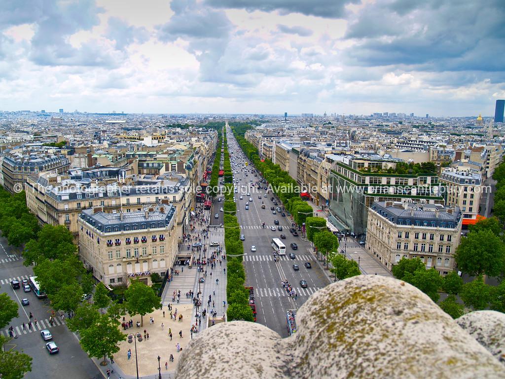 Paris from top of Arc de Triomphe. Paris, France.