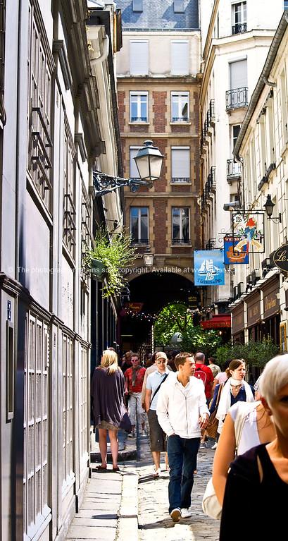 Lane of bars, Paris, International City.