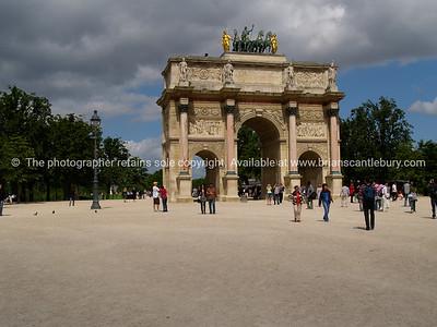 Arc de triomphe du Carousel, Paris, International City. France.