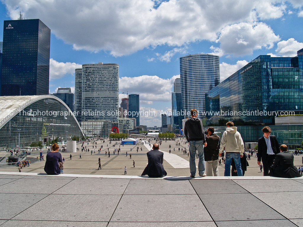 Modern commercial district of Paris. France.