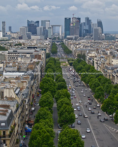 Paris, International City, La Defense from Arch de Triumph.