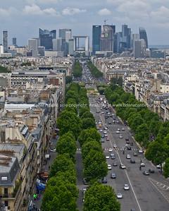 Paris, International City, La Defense from Arch de Triumph.