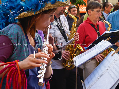 Music in the streets of Montmatre,  Paris, International City.