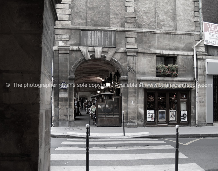 Monochrome street scene, Paris, International City.