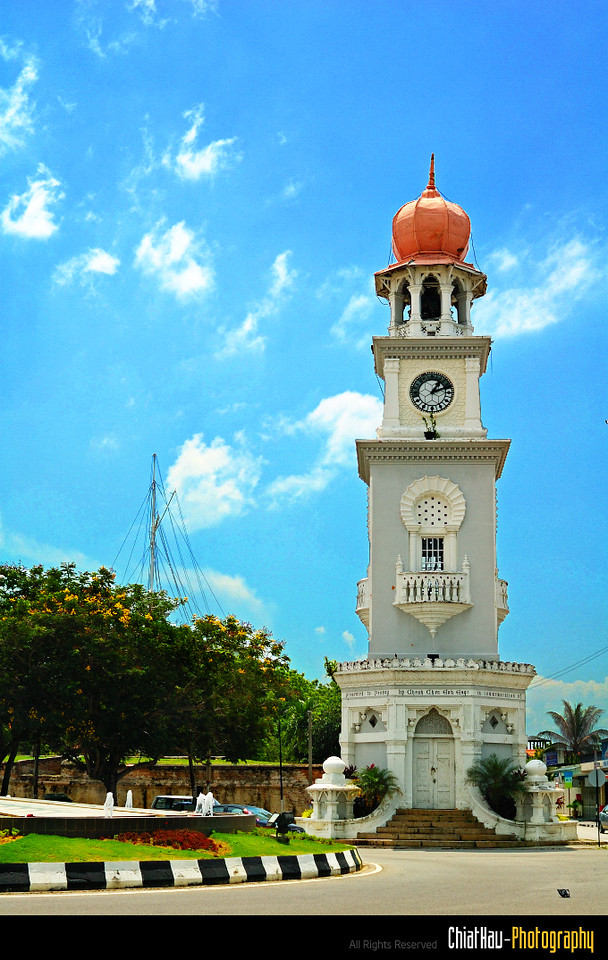 and the Penang famous clock tower