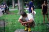 Jogger resting in Central Park