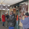 street singers in front of the original Starbucks