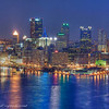 HDR depiction of Pittsburgh at night