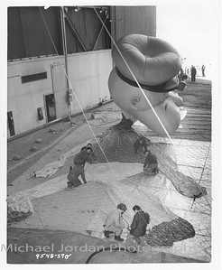 The building of Popeye the Sailor Man for the Macy's Thanksgiving Day Parade at the Goodyear Aerospace Corporation, Litchfield Park, Arizona 85340
