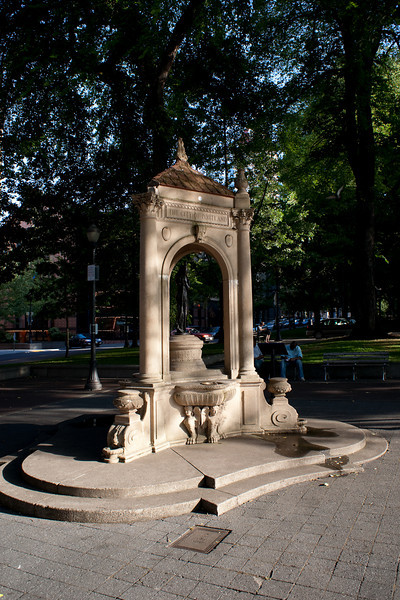 A monument in Portland's South Park Blocks, a one-block-wide park that runs for about ten blocks long (Portland has pretty short blocks), providing a welcome respite in the middle of the city.
