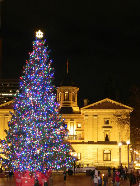 Pioneer Square at Christmas