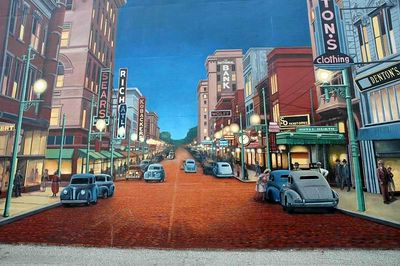 Portsmouth Ohio Flood Wall Murals