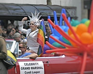Cyndi Lauper, Grand Marshal, SF Pride, June 2008