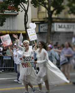 Just Married, SF Pride, June 2008