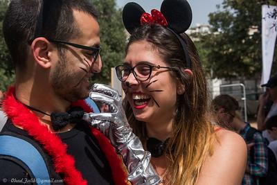 Tel Aviv Purim Party Kikar Hamedina