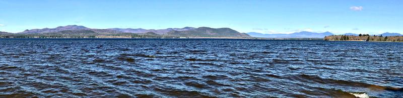 From east shore of Lake Ossipee:  Ossipee Range, Sandwich, Whiteface, Passaconaway, Paugus and Chocorua.