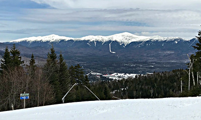 From the top of the West Mountain Express, Bretton Woods (March 29, 2018)