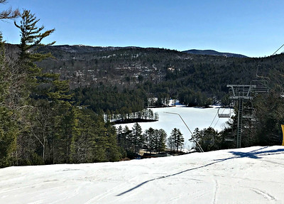 From the top of Pine Brulé, King Pine (March 31, 2018)