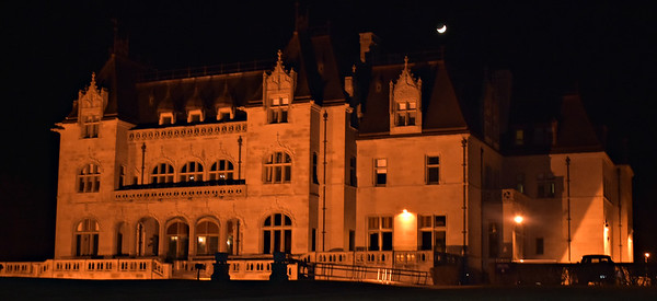 Ochre Court and Crescent Moon