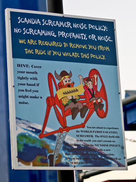 Scandia Screamer - no screaming allowed.