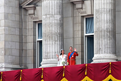 Royal Wedding – the couple on the balcony, alone at first.