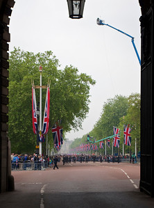 Royal Wedding – the Mall from Admiralty Arch.