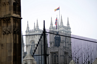 Royal Wedding – Westminster Abbey from beside Big Ben.