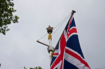 Royal Wedding – crown and flag.