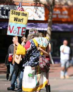 Stop the War, VoTE, Love Fest, San Francisco, October 4, 2008