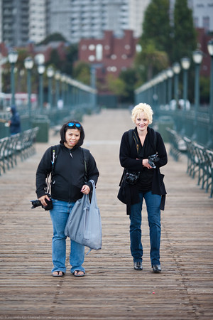 April and Karen on Pier 7.
