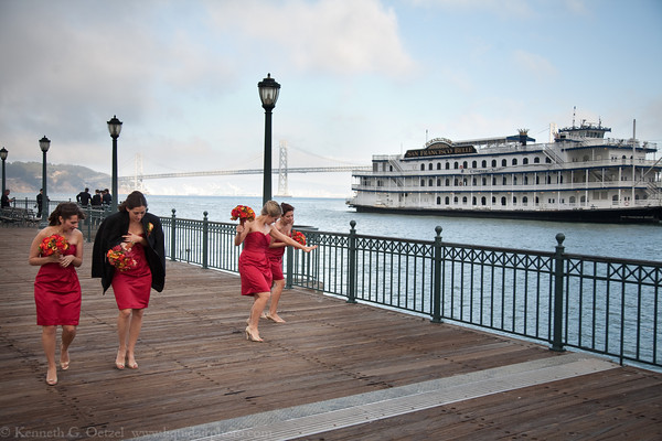 There was a wedding shoot on Pier 7 while we were there.