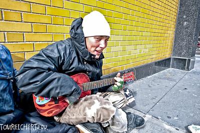 STREET MUSICIAN N.Y.C.