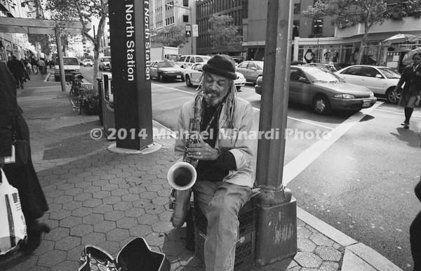 Sax man on DC street corner img142
